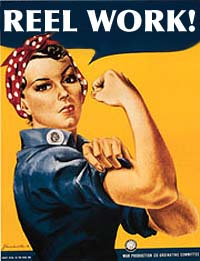 Rosie the Riveter supports Reel Work